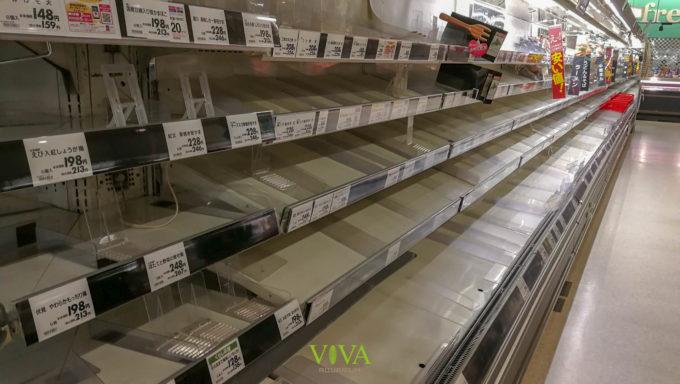 商品の消えたスーパー